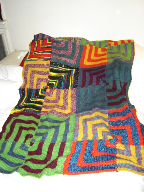 psychedelic square afghan